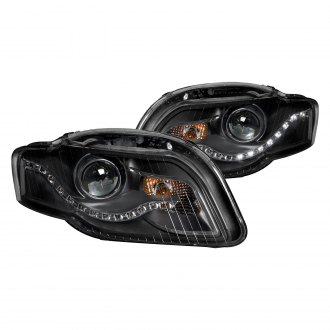 Anzo® - Black Projector Headlights with R8 Style LEDs