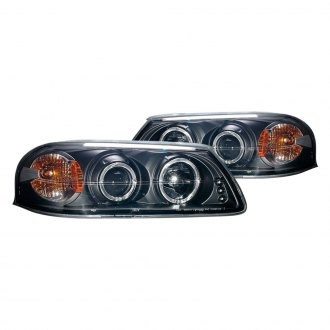 Anzo® - Black Halo Projector Headlights with Parking LEDs