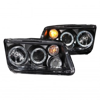 Anzo® - Black CCFL Halo Projector LED Headlights with Fog Lights