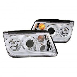 Anzo® - Chrome CCFL Halo Projector LED Headlights with Fog Lights
