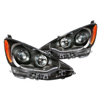 Anzo® - Black DRL Bar Projector LED Headlights