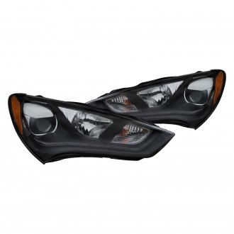 Anzo® - Black LED DRL Bar Projector Headlights