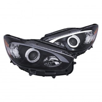 Anzo® - Black LED DRL Bar Halo Projector Headlights