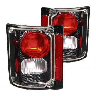 Anzo® - Carbon Fiber/Red Euro Tail Lights