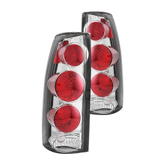 Anzo® - Chrome/Red 3D Style Euro Tail Lights