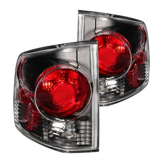 Anzo® - Black/Red 3D Style Euro Tail Lights