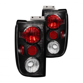 Anzo® - Black/Red Euro Tail Lights