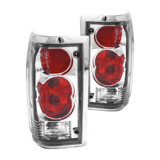 Anzo® - Chrome/Red Euro Tail Lights