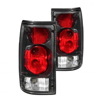 Anzo® - Carbon Fiber/Red G2 Euro Tail Lights