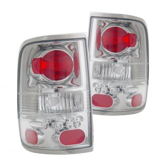 Anzo® - Chrome/Red Euro LED Tail Lights