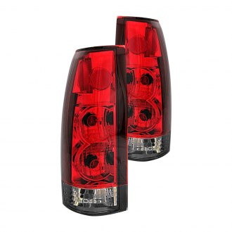 Anzo® - Chrome Red/Smoke G2 Euro Tail Lights