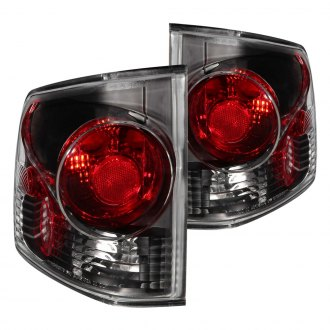 Anzo® - Black Red/Smoke 3D Style Euro Tail Lights