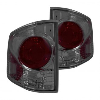 Anzo® - Chrome Red/Smoke 3D Style Euro Tail Lights