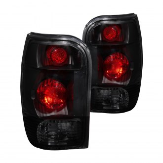 Anzo® - Black Red/Smoke Euro Tail Lights