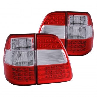 Anzo® - Chrome/Red G2 LED Tail Lights