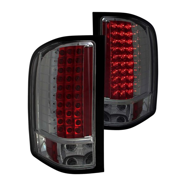 anzo 311159 chevy silverado 2009 chrome red smoke led tail lights. Black Bedroom Furniture Sets. Home Design Ideas