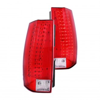 Anzo® - Chrome/Red Escalade Look LED Tail Lights