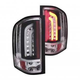 Anzo® - Black/Chrome Fiber Optic LED Tail Lights