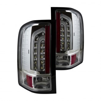 Anzo® - Chrome Fiber Optic LED Tail Lights