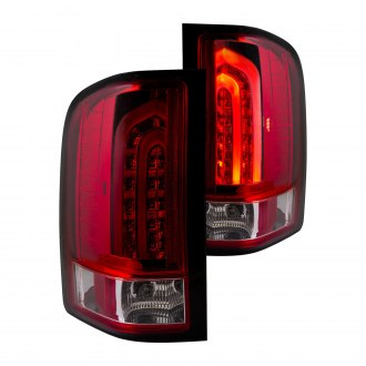 Anzo® - Chrome Red/Smoke Fiber Optic LED Tail Lights