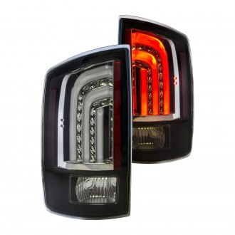 Anzo® - Black Fiber Optic LED Tail Lights