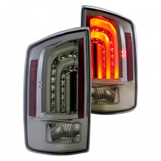 Anzo® - Chrome/Smoke Fiber Optic LED Tail Lights