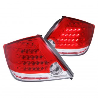 Anzo® - Chrome/Red LED Tail Lights