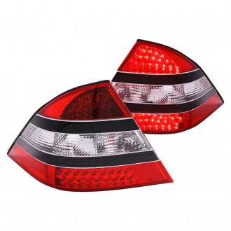Anzo® - Black/Chrome Red LED Tail Lights