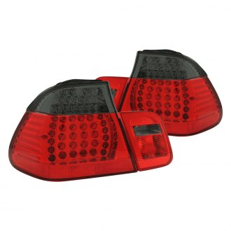 Anzo® - Chrome Red/Smoke LED Tail Lights