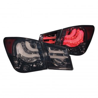Anzo® - Black/Smoke Fiber Optic LED Tail Lights