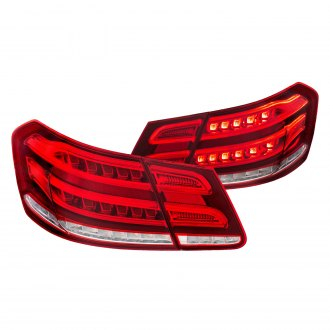 Anzo® - Chrome/Red Fiber Optic LED Tail Lights