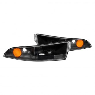 Anzo® - Black Crystal Turn Signal/Parking Lights