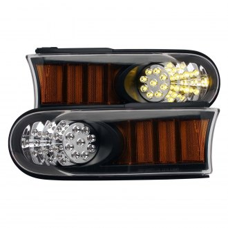 Anzo® - Black/Amber LED Parking Lights