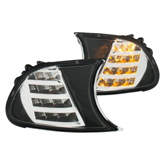 Anzo® - Black/Chrome LED Turn Signal/Corner Lights