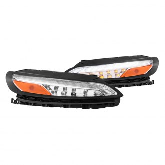 Anzo® - Black/Chrome Amber/Clear LED Turn Signal/Parking Lights