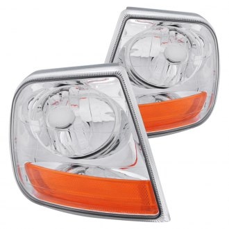 Anzo® - Harley Davidson Style Chrome Crystal Turn Signal/Corner Lights