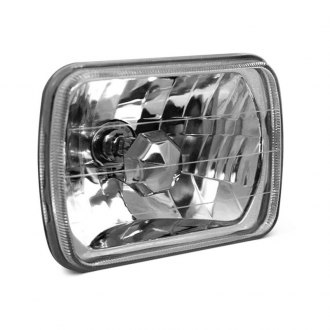 "Anzo® - 7x6"" Rectangular Chrome High/Low Beam Euro Headlight"