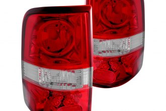 Anzo® - Red/Clear Euro LED Tail Lights