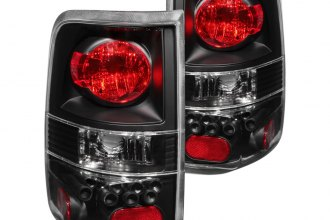 Anzo® - Black Euro Tail Lights with LEDs