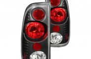 Anzo® - Black Euro Tail Lights G2