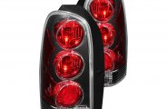 Anzo® - Black Euro Tail Lights 3D Style