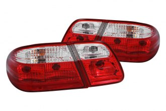 Anzo® - Red/Clear OEM Style Euro Tail Lights G2