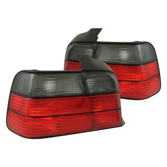 Anzo® - Red/Smoke Euro Tail Lights