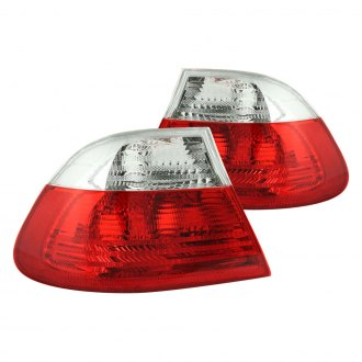 Anzo® - Red/Clear Euro Tail Lights