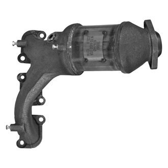 AP Exhaust® - Front Driver Side Stainless Steel Direct Fit Exhaust Manifold with Integrated Federal Catalytic Converter