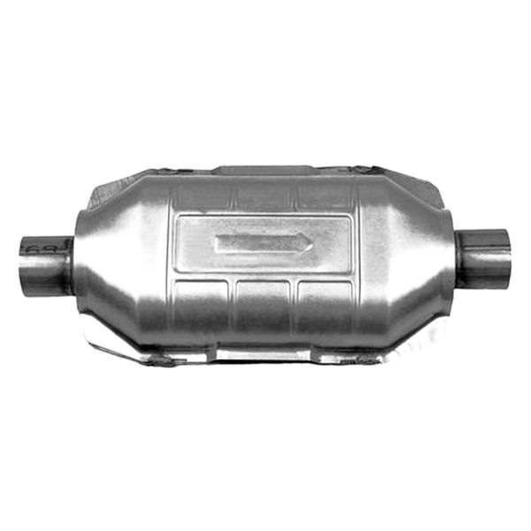 """AP Exhaust 608204 Universal Catalytic Converter Oval 2/"""" In//Out w// O2 EPA OBDII"""