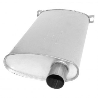AP Exhaust® - Challenge Series Exhaust Muffler with Inlet / Outlet Neck