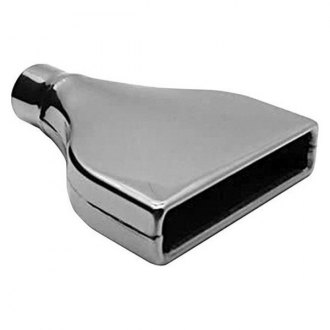 "AP Exhaust® - Xlerator Stainless Steel Rectangular Angle Cut Weld-On Chrome Exhaust Tip (2.5"" Inlet, 10"" Length)"