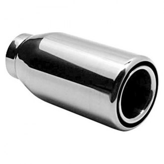 AP Exhaust® - Xlerator Stainless Steel Specialty Round Inside Roll Straight Cut Weld-On Double-Wall Natural Exhaust Tip