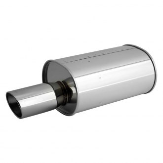 APEXi® - WS2 304 SS Exhaust Muffler Oval Dual Wall Rolled Angle Cut Tip